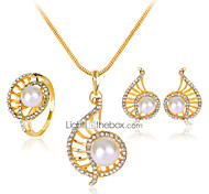 Lucky Doll Alloy / Imitation Pearl / Rhinestone / Rose Gold Plated Jewelry Set 3 pcs Party / Daily 1set