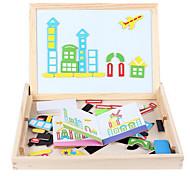di puzzle prima educazione dei bambini, giocattoli educativi blocchi di legno, i bambini intelligenza schizzi, incantesimo magnetico