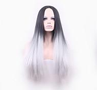 черный лолита Harajuku прямой парик синтетические парики Парики Pelo естественный дешевый аниме косплей парик Perruque женщин афро
