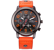 Xinew  Brand Watches Men Fashion Leather Calendar Clock