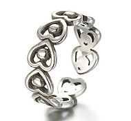 Antique Silver Vintage Style Heart Open Band Midi Ring for Men/Women Jewelry