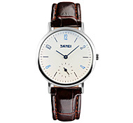 Skmei® Women's Fashion Round Dial Leather Strap Analog Wrist Watch 30m Waterproof Assorted Colors