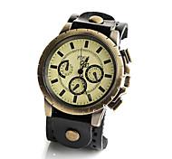 Damen Modeuhr / Armbanduhr / Armband-Uhr Quartz Armbanduhren für den Alltag Leder Band Vintage / Cool Schwarz / Braun Marke-