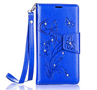 Butterfly Flower Diamond Flip Leather Cases Cover For Nokia Lumia 650/550 Prime Strap Wallet Phone Bags