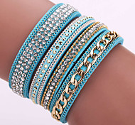 Fashion Korea Flannelette Diamond Bracelet Alloy Chain Bracelet Magnetic Clasp #YMG1086