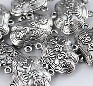 Women's Lucky Lock Silver Alloy Charm for DIY Jewelry