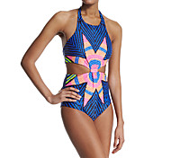 European and American Style Democracy Printing Piece Swimsuit Sexy Lady Swimsuit