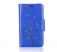 "For ASUS ZenFone Go / Go TV (ZB551KL) 5.5""Luxury Retro Dandelion Diamonds embossed wallet Phone Cover With Stand"