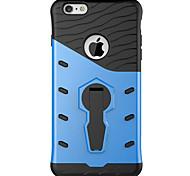 espalda con el soporte Color Sólido PC Duro 360 degree rotation armor Phone Case Cubierta del caso para AppleiPhone 6s Plus/6 Plus /