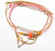 Pulseiras em Correntes e Ligações / Pulseiras com Pendentes / Pulseiras Strand / Enrole Pulseiras / tear Bracelet 1pç,Dourado Pulseiras