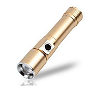 Mini Aluminum Rechargeable LED Flashlight (Single Flashlight)