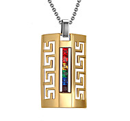Necklace Pendant Necklaces / Pendants Jewelry Daily / Casual Fashionable Titanium Steel Gold 1pc Gift
