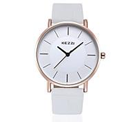 KEZZI® HongKong brand silver color leather couple watch K738GA