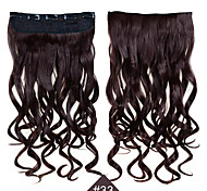клип в синтетических 1шт 24inch 60см волос женщины большие волны длинные вьющиеся волосы # расширения 33 цвет синтетические волосы ткет