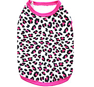 Коты / Собаки Футболка Черный / Розоватый Одежда для собак Лето Матовый черный Мода