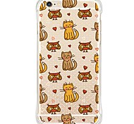 For iPhone SE/5s/5/iPhone 6s Plus/6/iPhone 6s/6 Cute Cat TPU&Silicone Shockproof  Soft Back Cover