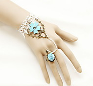 White Lace Flower Ring Bracelet