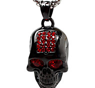 Luxury Personality With Drilling Skull Titanium Steel Necklace Pendant - Black Ghost Head (Excluding Chain)