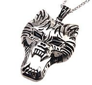 316L Stainless Steel Pendant Tiger Skull