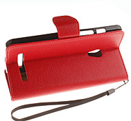 For Asus Case with Stand / Flip Case Full Body Case Solid Color Hard PU Leather ASUS Other