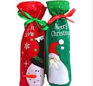 Snowman Christmas Ornament Od Wine Bags Christmas Red Bottle Sets