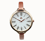Women's Leather Thin Strap High-grade Casual Analog Quartz Watches