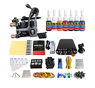 Beginners Color Coil Tattoo Machine Kit Mini-Power Equipment (Handle Color Random Delivery)