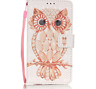 PU Leather Material 3D Painting Shell Owl Pattern Phone Case for Samsung Galaxy J5/J510/J3/J310/G360/G530