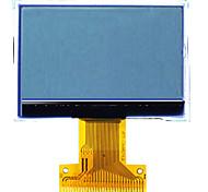 128 * 64 12864g-378 de matriz de puntos módulo de pantalla LCD de 2 pulgadas de cremallera y opcional