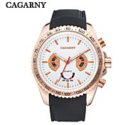 CAGARNY Big Dial Rubber Band Men's Watch