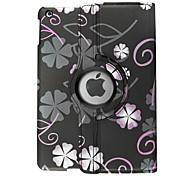 Tuta Auto sospendione/riattivazione Fiore decorativo Similpelle Difficile Copertura di caso per Apple iPad Air iPad Air