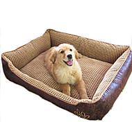 Bed Pet Blankets Waterproof Beige Cotton / Leather