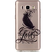 Hollow High Permeability LCVE Feathers Pattern TPU Soft Case Phone Case For Samsung J3(2016)/J5(2016)/G530/G360