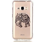 TPU Transparent Thin Gold Foil Elephant Pattern  for Samsung  J1(12016)/J3/G530