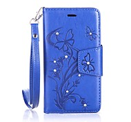 Rhinestone with Stand Solid Color PU Leather Case Cover For Samsung Galaxy A3 2016 A310F/A5 2016 A510F