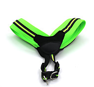 Cat Dog Harness Reflective Adjustable/Retractable Safety Soft Padded Solid Green Rose Nylon