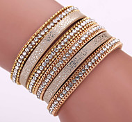 Fashion Trendy  Multi drill Bracelet Ms Korea velvet set auger alloy magnetic clasp bracelets #YMG1084