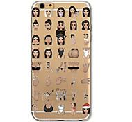 volver otra cubierta kardashian historieta TPU caso para el iPhone de Apple 6s más / 6 más / iphone 6s / 6
