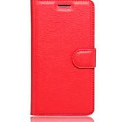 Tuta portafoglio / con supporto / Capovolgere Tinta unita Similpelle Morbido Wallet type bracket / flip / mobile phone shellCopertura di
