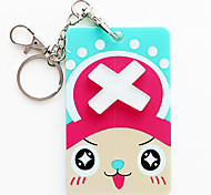 3500 Wholesale Korean Cartoon Animal Stereo Card Sets Beard Silica Gel Key Ring With Bank Card Holder (Joe) Bus