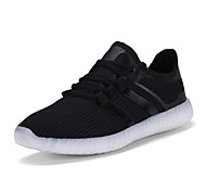 Running Shoes New Men's Fashion LED Shoes Comfort Breathable / Party& Casual Shoes Black / White