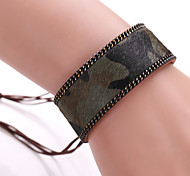 Fashion Personality Leopard Horsehair Bangle Bracelet Smoked Pull Rope Bracelet