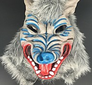 Halloween Horror Devil Blue Langtou Mask Masquerade Props Scary Mask Latex Wolf Animal Headgea