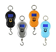 50kg Backlight, Smiling Face Gourd Household Portable Electronic Scale (Ring 50kg Backlight English Portable)