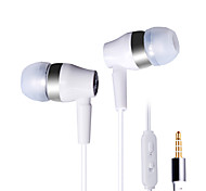 Music Headphones Bass Ear Wire With Wheat Ear On White - With Switch KeyDT-209
