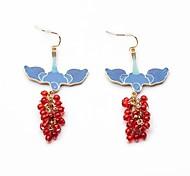European Style Earrrings Rhinestone Acylic Bird Drop Earrings for Women Fashion Jewelry Best Gift