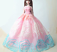 Barbie Doll Pink / Sky Blue Party & Evening Organza / Lace Dresses Dresses