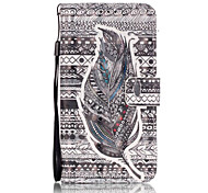 3D Painted Black Feather Pattern PU Material Phone Case for Galaxy J3/J310/J5/J510/G360/G530