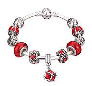 Bracelet Charmes pour Bracelets Bracelets Rigides Manchettes Bracelets Bracelets de rive Bracelets en ArgentAlliage Résine Strass Plaqué