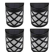 3W Luces LED Solares 300 lm Blanco Fresco LED Dip Recargable / Decorativa / Impermeable <5V V 4 piezas